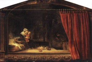 The-Holy-Family-With-A-Curtain-Religion-Oil-Painting-ACS00498