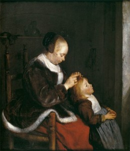 mother-combing-the-hair-of-her-child